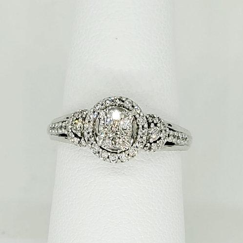 Diamond Cluster Halo Engagement Ring