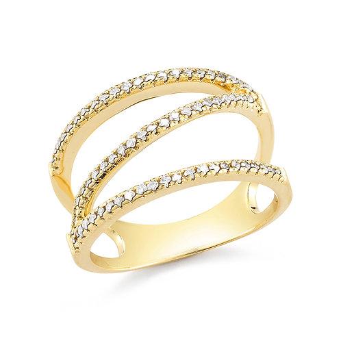 Diamond Zig Zag Ring