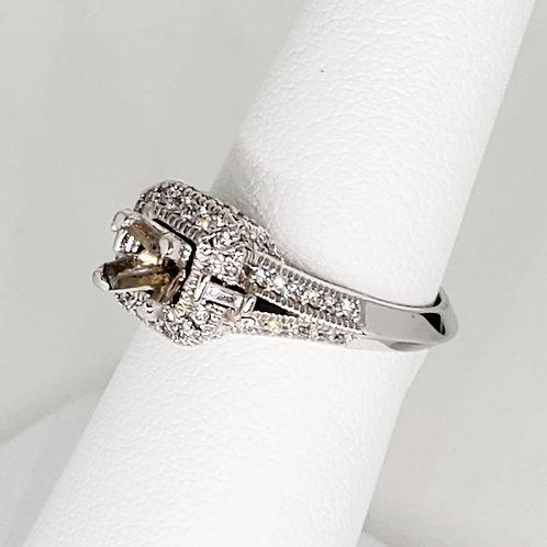 Princess Halo Semi-Mount Engagement Ring