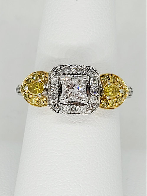 Yellow and Diamond Ring