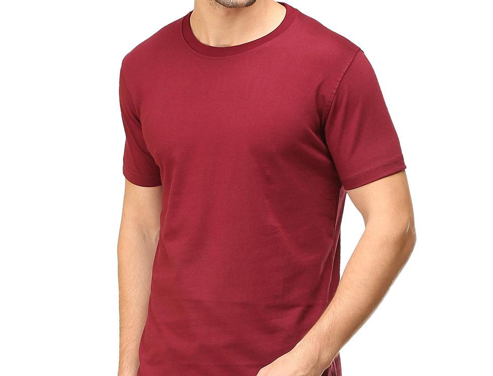 Maroon Cotton T-Shirt For Men