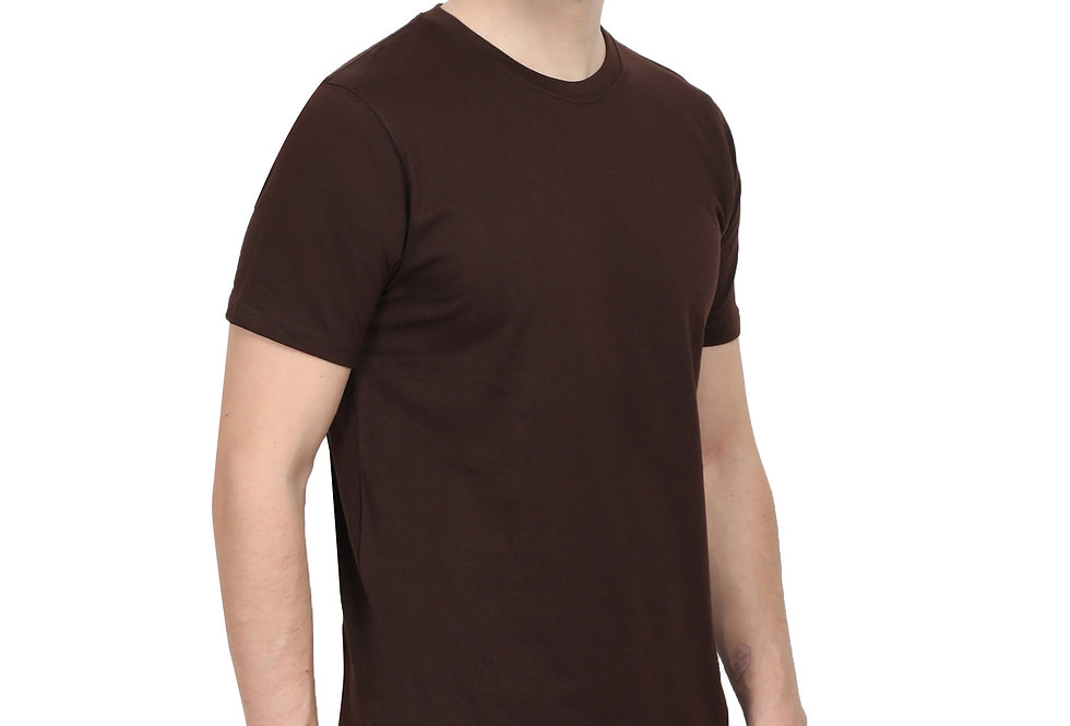 Brown Cotton T-Shirt For Men