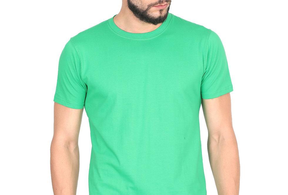 Green Cotton T-Shirt For Men