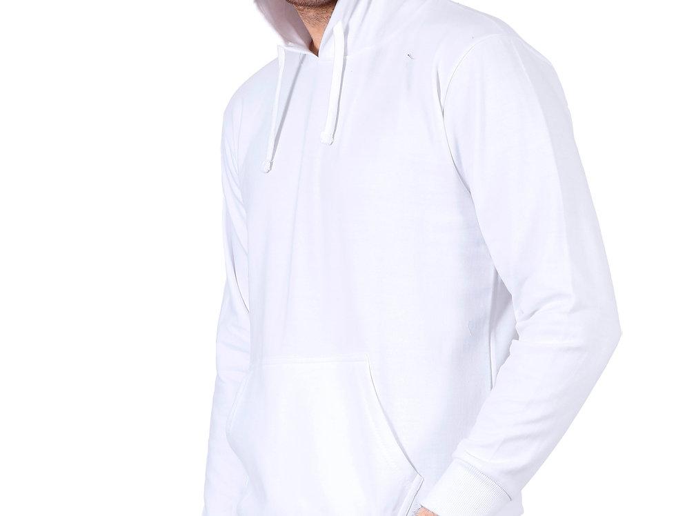 White Hooded Sweatshirt For Men