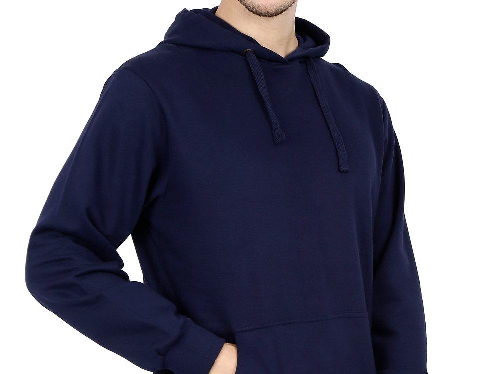Navy Blue Hooded Sweatshirt For Men