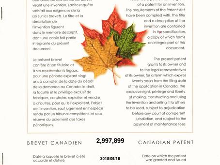 国際特許取得!最初の国は、カナダ