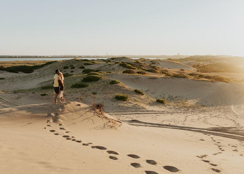 couple on sand dunes