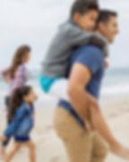 Familie bij een Beach