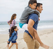 Family at a Beach