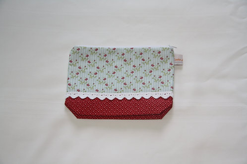 Accessory Bag Medium Red Floral with Diamonds