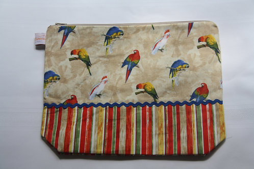 Accessory Bag XL Parrots with Stripes