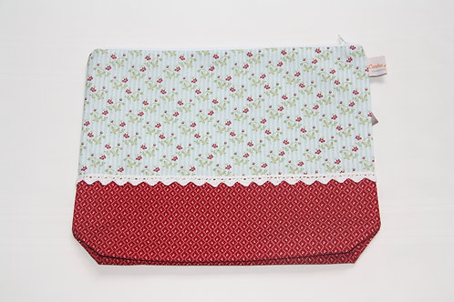 Accessory Bag Large Red Floral with Diamonds