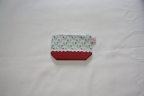 Accessory Bag Small Red Floral with Diamonds