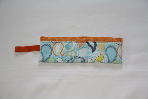 Essential Oil Case For 5 Blue Paisley