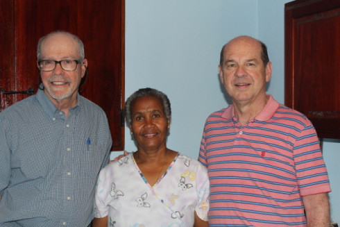 Greg, Dan and Cherlie at the end of a hard week of work in the clinic.