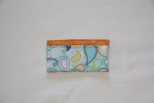 Essential Oil Case for 3 Blue Paisley