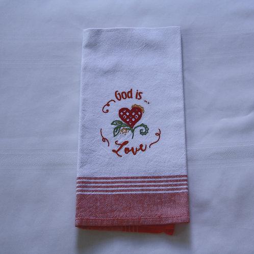 Dishtowel God is Love