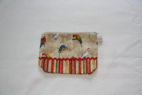 Accessory Bag Medium Parrots with Stripes