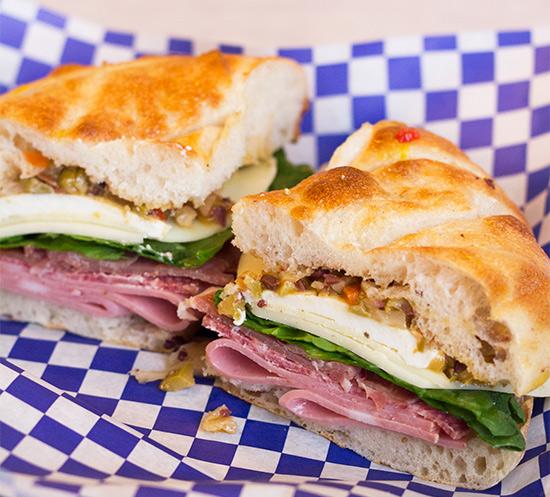 Yacht Club's Mufalletta Sandwich