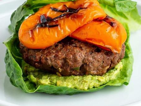 Grilled Fajita Keto Burgers