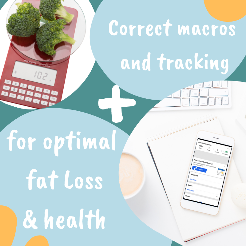Correct macros and tracking will lead to optimal fat loss & health