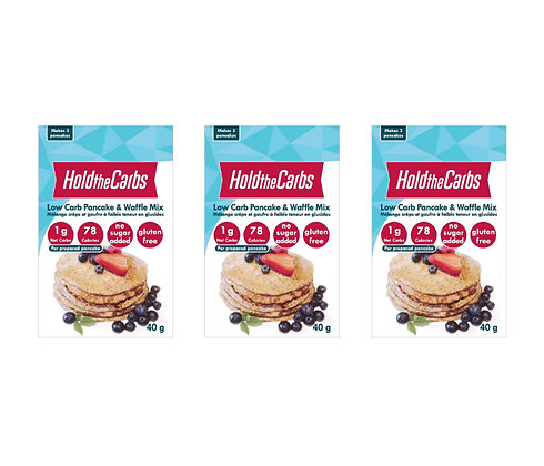 Hold the Carbs Pancake & Waffle Mix 3-Pack