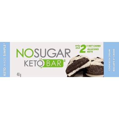 No Sugar Keto Bar (Cookies & Cream)