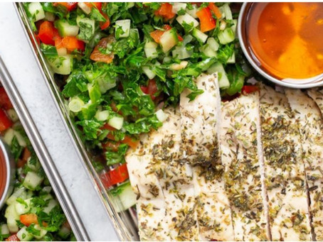 Cucumber & Pepper Tabbouleh with Chicken