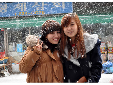 눈 온 날 센터 풍경