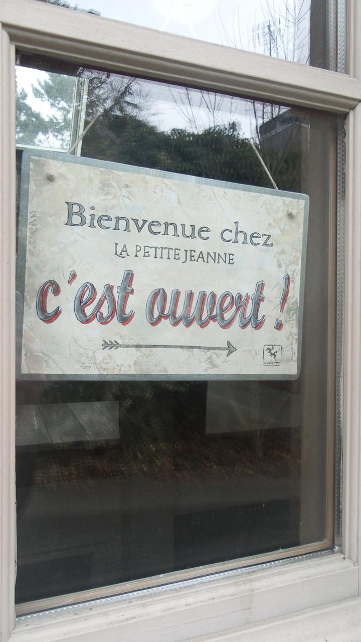 plaque zinc La Petite jeanne recto
