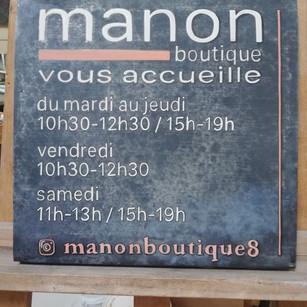 Manon Boutique panneau de porte double face