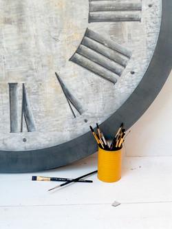 horloge 100cm tour acier JeannePetit