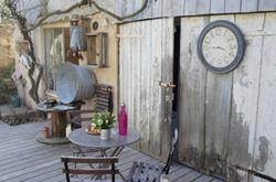 Horloge 60 cm, moulure bois
