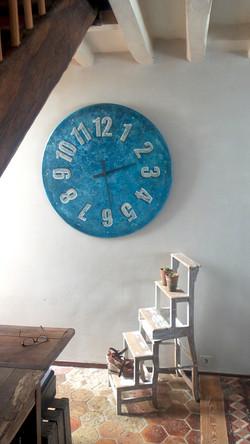 horloge 100cm bleu argile