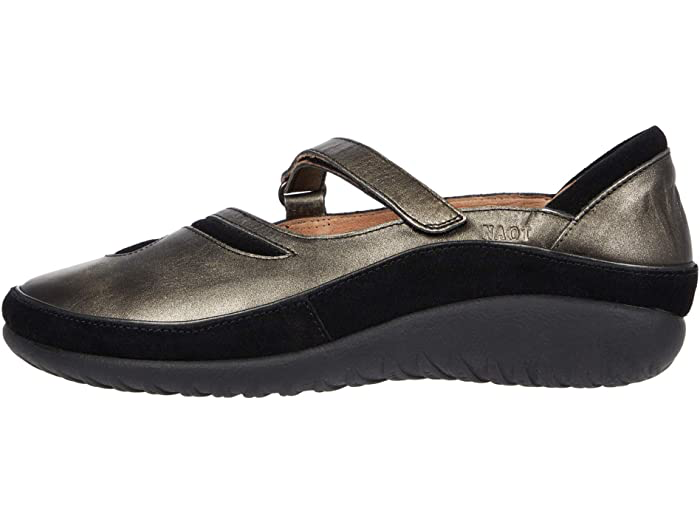 Matai Metal Leather/Black Suede