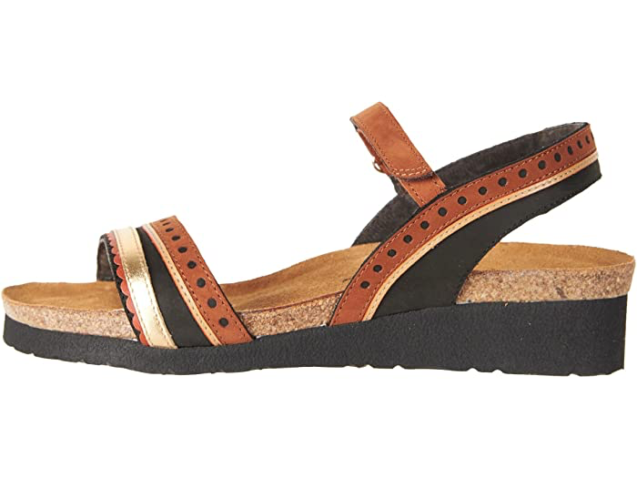 Beverly Blk Velvet/Hawaiian Brn/Gold