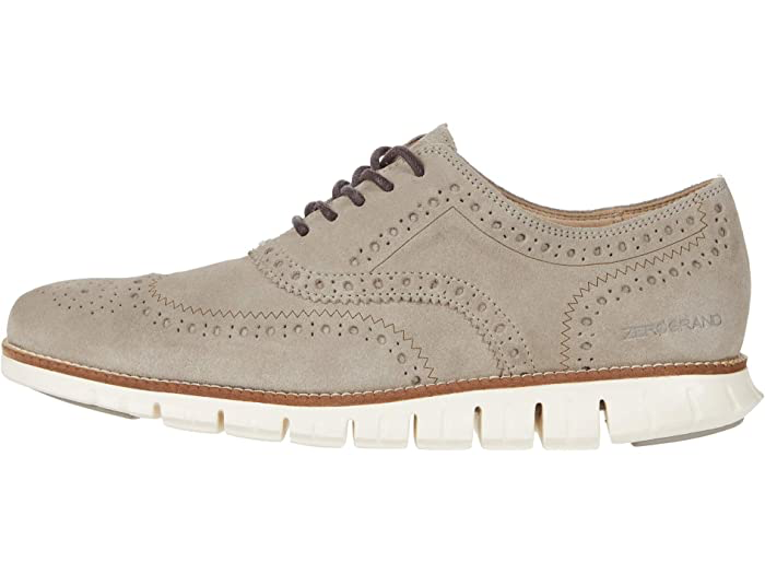 ZERØGRAND Wingtip Oxford C31163 Gray Suede