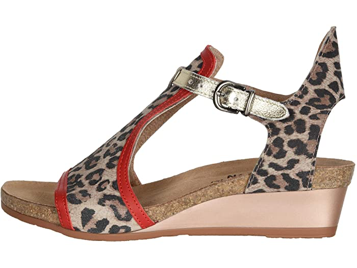 Fiona Cheetah Suede/Kiss Red Lthr/Radiant Gold Lthr