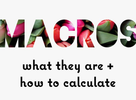 Macro Ratio + Food labels