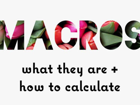 Macro Ratio + Food labels