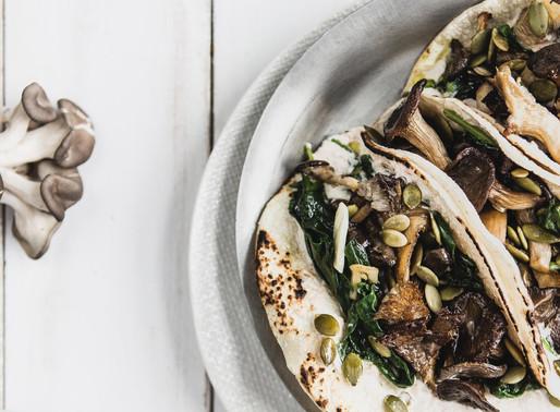 Mushroom + Spinach Tacos
