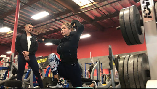 Lily Front Dumbbell Squat