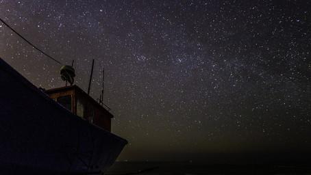 bir geminin hoşça kal ışıkları