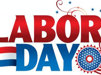 Labor Day Schedule