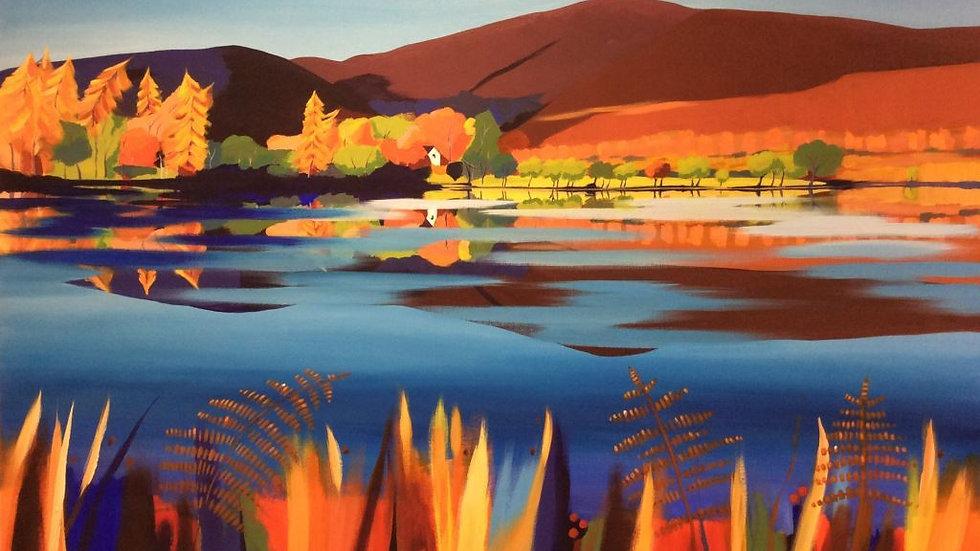 Autumn Reflections Loch Alvie