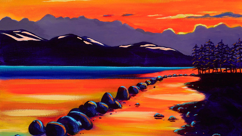 Sunset Loch Morlich