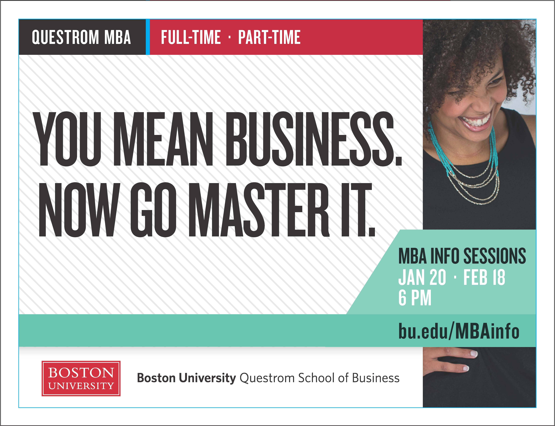 blattsteincrafted | Boston University MBA ad