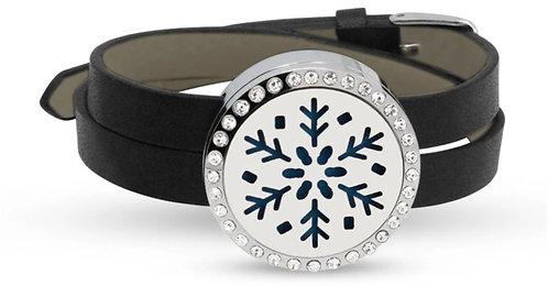 Aromatherapy leather bracelet