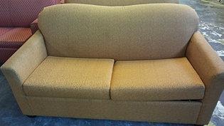 gold loveseat sleeper sofa
