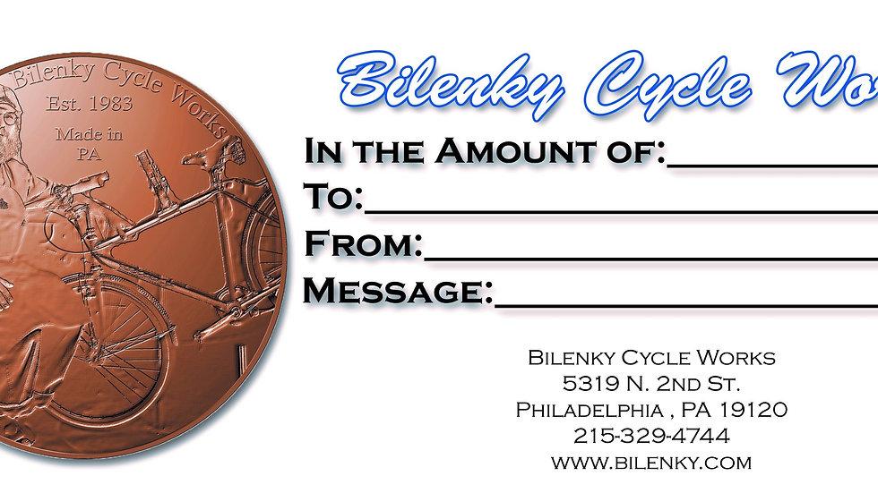Bilenky Gift Certificate